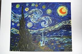 """Nuit étoilée"" de Vincent Van Gogh... heu, Van Dominos!"