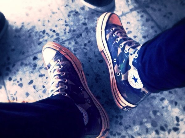 My converse ^^ in the class