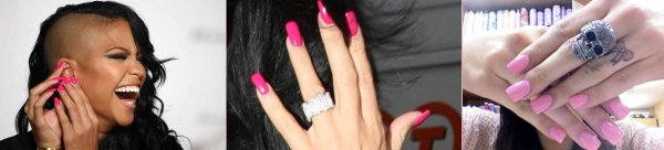 Nails art- Pink Lady