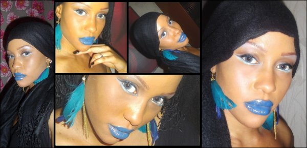 Blue- Make Up Mes réalisations