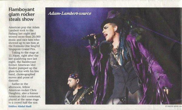 #73 Adam dans The Singapore Straits Times (26.09.10)
