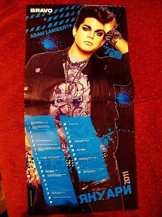 #150 Adam Lambert en vedette du Calendrier du mois de Janvier du magazine BRAVO