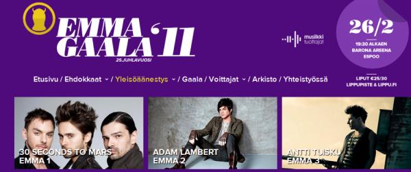 #213 Adam est nominé au EMMA en Finlande