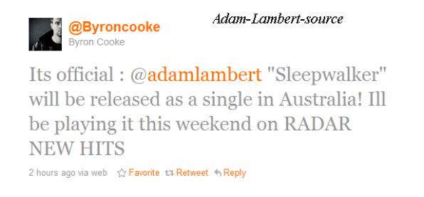 #242 900 000 de followers sur Twitter Adam gagne pour le Meilleur album modern Pop Rock  Sleepwalker est le prochain single en Australie