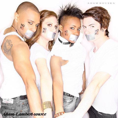 #261 Photoshoot NOH8 des danseurs de Adam. (22.03.11)