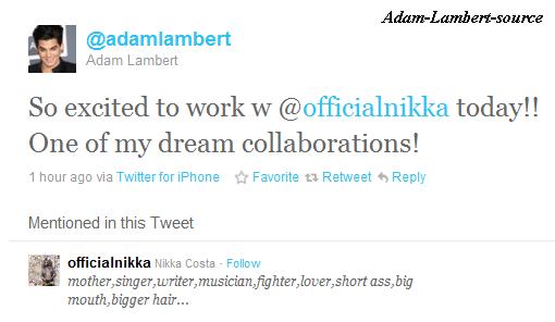 #273  Adam travail avec Nikka Costa (01.04.11) Linda Perry parle de Adam