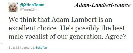 #348 Tweet du Twitter de @XtinaTeam: