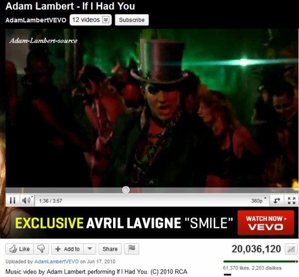 #375 If I Had You a été vue plus de 20 millions de fois sur YouTube !