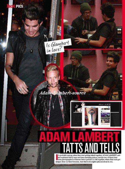 #416 Adam et Sauli dans Hot Magazine
