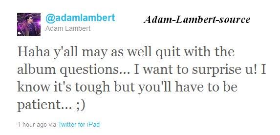 #438 Adam parle de la sortie de son prochain single .