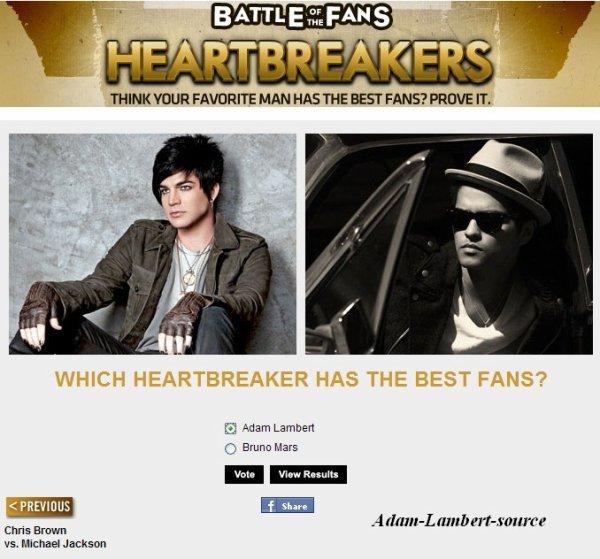 #445 RAPPEL: Bataille des fans - Adam Lambert vs Bruno Mars