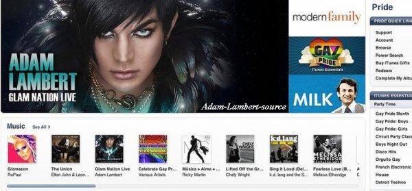 #456 Glam Nation Live en bannière de la section Gay Pride sur iTunes