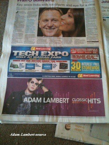 #500 Adam sur le journal Herald de la Nouvelle-Zélande