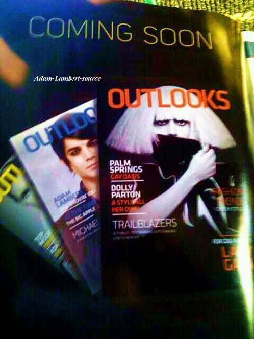 #504 Adam dans une annonce d'un futur numéro du magazine Outlooks, un magazine gay au Canada
