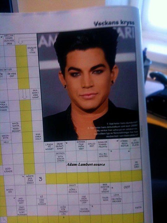 #507 Adam dans un magazine suédois