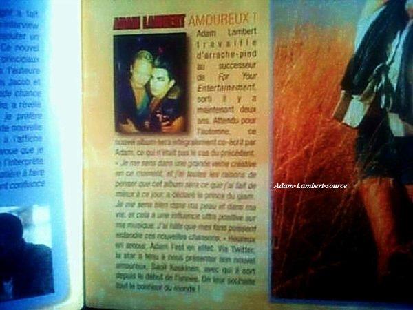 #524 Adam dans le magazine ONE, en France. (11.07.11)