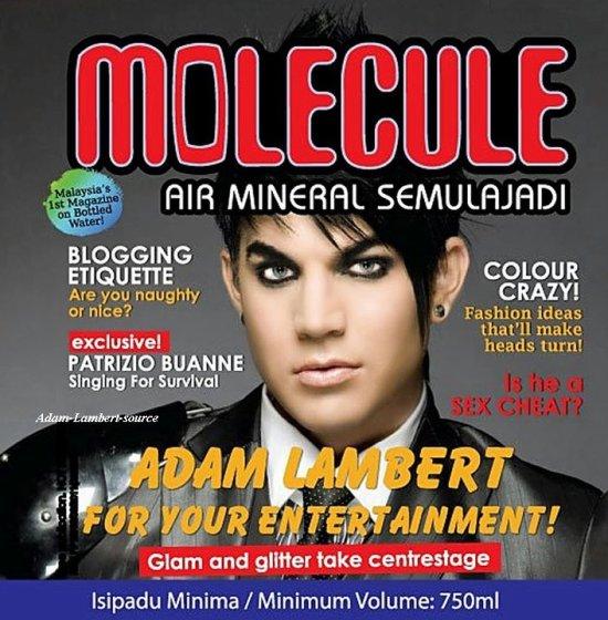 #550 Adam sur une bouteille d'eau appelée Molecule, en Malaysie
