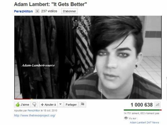 #556 It Gets Better dépasse les un millions de views sur YouTube !