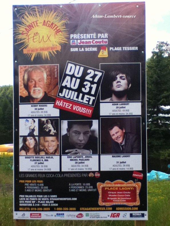 #571 Adam sur une affiche à Ste-Agathe-des-Monts pour le festival Ste-Agathe-en-Feux. (28.07.11)
