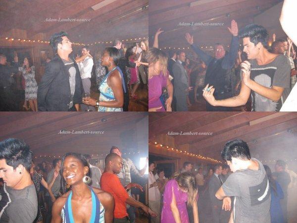 #638 Adam au mariage de Brooke Wendle(danseuse du Glam Nation Tour) avec Tommy Joe Ratliff, LizAnn, Terrance Spencer et son petit ami Sauli. (19.08.11)