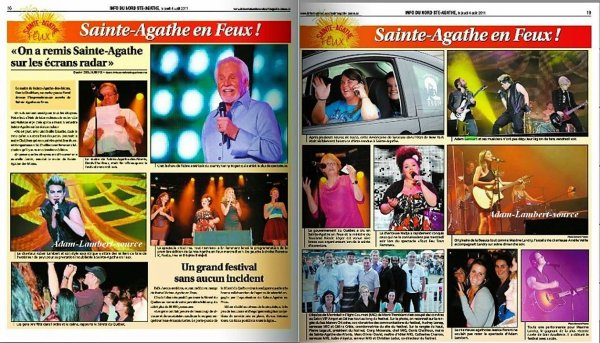 #660 Adam dans le journal ''L'information du Nord'', Ste-Agathe (Canada) - (04.08.11)