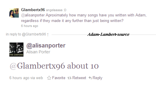 #666 Alisan Porter a écrit 10 chansons pour Adam.