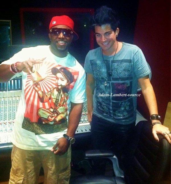 #690 Nouvelle photo de Rico Love et Adam en studio.
