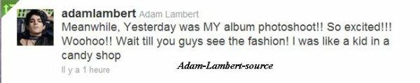 #721 Hier, Adam a fait le photoshoot pour le nouvel album !