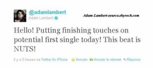 #729 Adam termine son premier single !