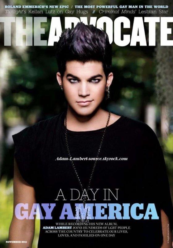 #735 Adam en couverture de The Advocate, novembre 2011.