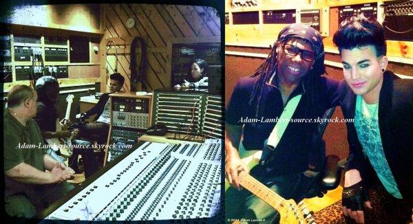#749 Adam dans les studios au Avatar Studio avec Nile Rodgers. (21.10.11)