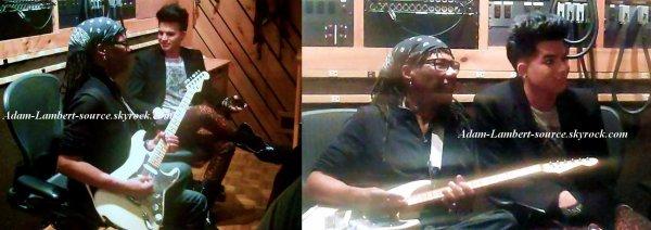 #752 Nouvelles photos de Adam et Nile Rodgers en studio ! (21.10.11)