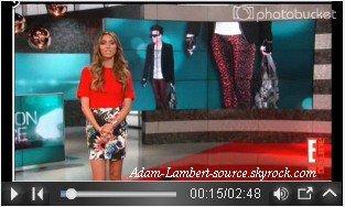 #762 Adam dans E! News pour Fashion Police. (25.10.11)