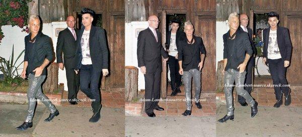 #768 Adam et Sauli quittant le restaurant ''Little Door'', à Los Angeles. (25.10.11)