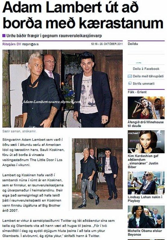 #774 Adam dans la presse islandaise. (26.10.11)