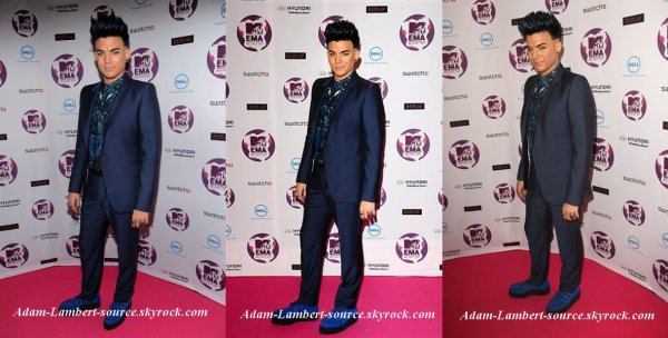 #802 Adam sur le tapis rose des MTV European Music Awards 2011. (06.11.11)