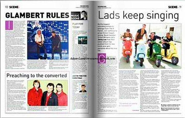 #821 Adam dans le The Irish News