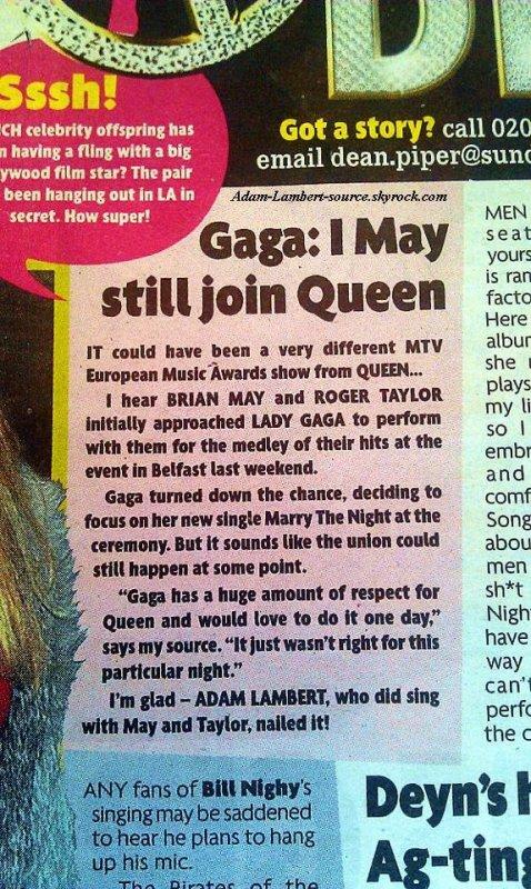 #828 Adam mentionné dans le UK Daily Star.