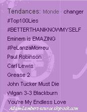 #848 Better Than I Know Myself est dans les tendances mondiales sur Twitter!