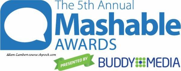 #858 Adam est finaliste au Mashable Awards 2011.