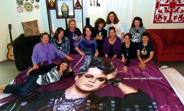 #874 Les gagnants du concours ''Gagner un panneau d'affichage Adam Lambert!'' (Nouvelle-Zélande) (03.12.11)