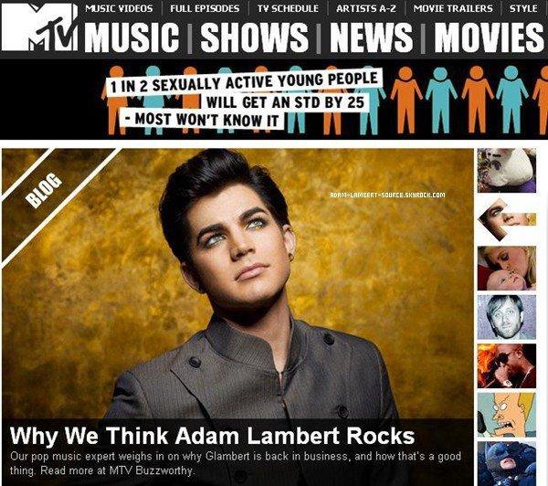 #887 MTV: Pourquoi nous pensons que Adam Lambert rock.
