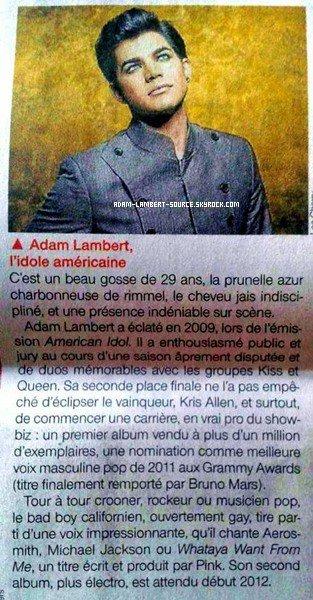 #888 Adam dans un journal français.