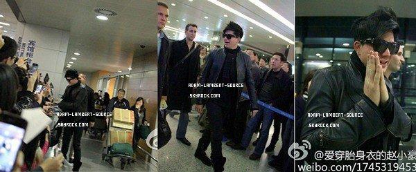 #895 Adam Lambert arrivant à Shanghai, en Chine. (16.12.11)