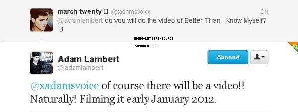 #908 Le tournage de Better Than I Know Myself se fera au début janvier 2012!
