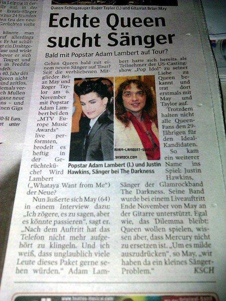 #934 Adam dans un journal en Allemagne.
