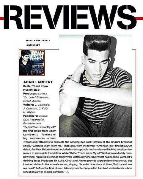 #941 Review sur Better Than I Know Myself par Billboard. (14.01.12)