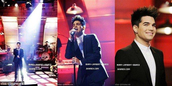 #959 Photos de la performance d'Adam au The Tonight Show with Jay Leno. (17.01.12)