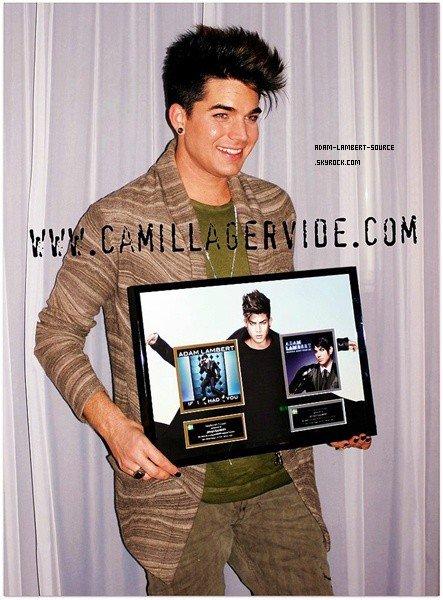 #1035 Article de camillagervie.com: Adam Lambert obtient un prix en Suède!