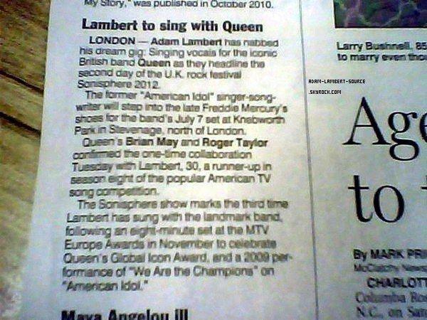 #1109 Article d'Adam et Queen.